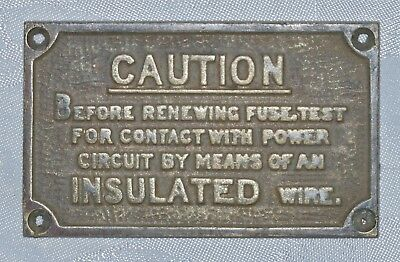 Vintage Warning Plate For Trollybus