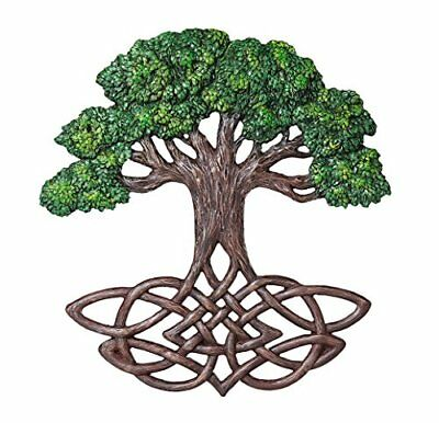 Celtic Tree of Life Knotwork Decorative Wall Plaque Sculpture 13 Inch Tall