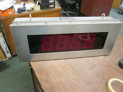 American LED-Gible Stainless Steel LED Counter SO-11063-001 4-Digit Used