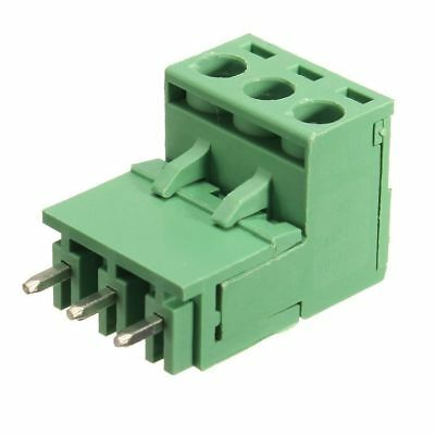 10Pcs 5.08mm Pitch 3Pin Plug-in Screw PCB Terminal Block Connector Right An F5S3