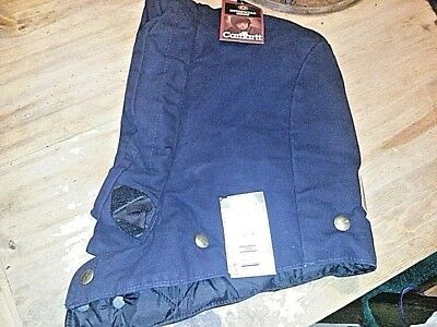 CARHARDTT SNAP-ON HOOD ARCTIC-LINED MIDNIGHT BLUE A148 NWT Made In USA!!!!!