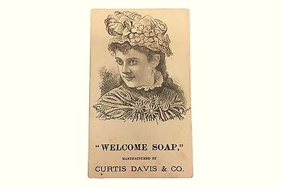 VTC Advertising Welcome Soap Curtis Davis Laundry Trade Card Paper Ephemera