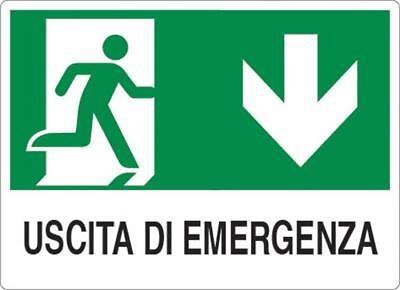 "Cartel ""Emergency Exit 1"" 20X30Al - Tools Do It Yourself"