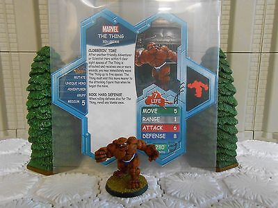 Heroscape Custom The Thing Double Sided Card & Figure w/ Sleeve Marvel