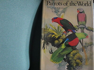 Parrots of the World Book by Joseph M Forshaw & Cooper wth DJ First Edition 1973