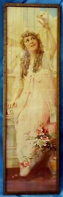 Antique/Vintage 1917 Mary Pickford POMPEIAN BEAUTY Art Deco Framed Print