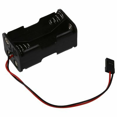 Futaba Plug Connector RC 4 x AA Battery Holder Box Case For Helicopter Airp W3D5
