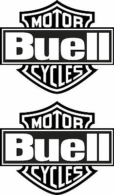 BUELL 2 Aufkleber Bar & Shield Totenkopf  Decal  Biker Skull HD (30)