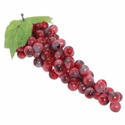 Artificial grapes--Bunch of Grapes Red Faux 85 PE grapes Decorations for We H4T6