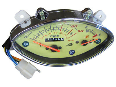 Speedometer Odometer Gauge Assembly 125cc 139QMB GY6 Scooter Moped