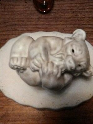 Rare Royal Copenhagen Knud Kyhn White Bear Cub Figurine- #21434- Stamped/ Mint