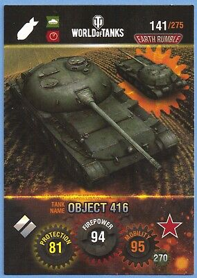 panini WORLD of tanks tradingcard #141 sowjetische panzer