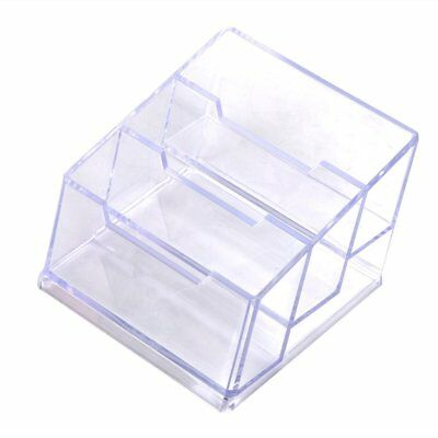 Business Card Box 3 Compartments Business Card Holder Business Card Dispens F8N2