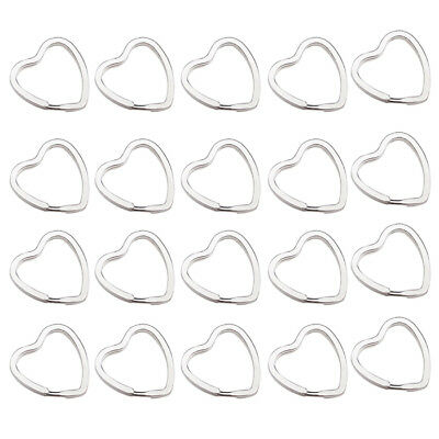 20Pcs Heart-Shaped Split Rings Key Rings 3*3cm N2S5