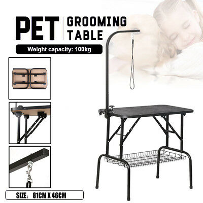 Heavy Duty Adjustable Foldable Pet Dog Grooming Table  Non Slip Surface Portable