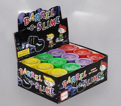 12 x Large Barrel O Slime Party Favors Kids Prank Silly Joke Toys 4 Colors NEW