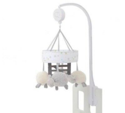 Silver Cloud Counting Sheep Mobile, Cot Mobile, Silver Cloud, musical mobile