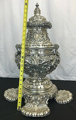 Elegant & Huge Antique Early 1900s Italian 800 Sterling Silver Centerpiece