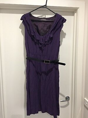 Jacqui E Purple Dress size 14 With Belt