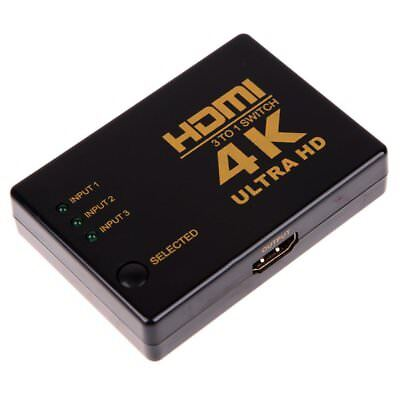 HDMI 3D Switch (2.0 Version) for HDTV 1080p, 3 * 1 HDMI Switch W2Y4