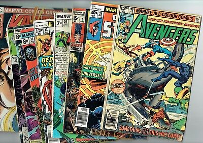Lot of 9 Bronze Age Marvel Comics
