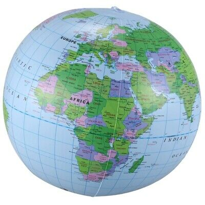 Inflatable Toy Globe Tellurion Training Geography Map Balloon Water Ball 40 W3T3