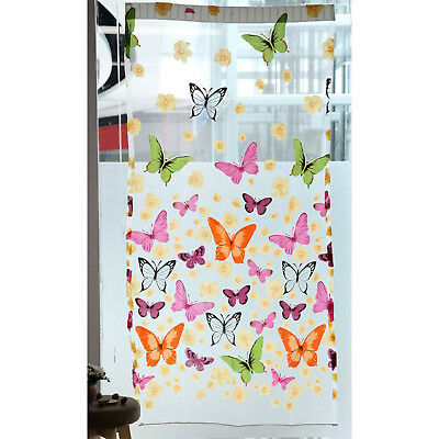 Chiffon Butterfly Pattern Wall Decoration Transparent Curtain Scarf Shawl C G1I2