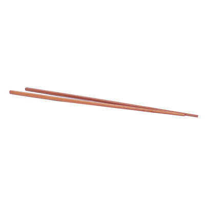 Ironwood Noodles Cooking Chopsticks 42cm Length 1 Pairs Dark Brown V8S5