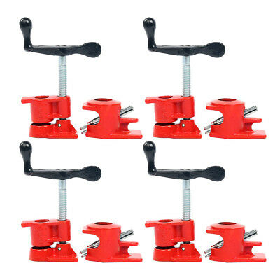 """( 4 Pack ) 1/2"""" Wood Gluing Pipe Clamp Set Heavy Duty PRO Woodworking Cast Iron"""