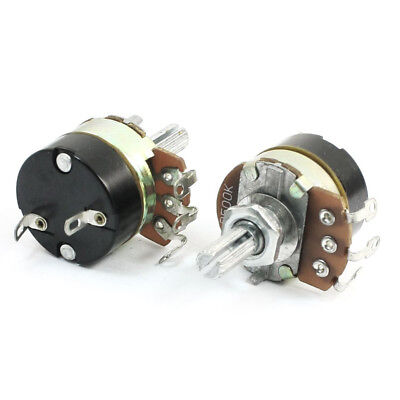 2Pcs 500K Ohm Single Linear Taper Potentiometers with on/off Switch H8B0