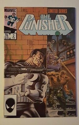 Punisher #2 VF/NM 9.0 white pages First Limited Series Marvel 1986 No Reserve