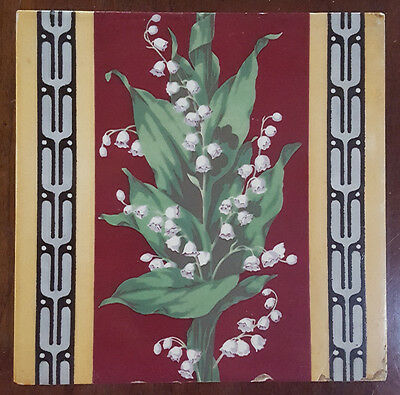 Minton Taylor and Company Tile. Lillies of the Valley