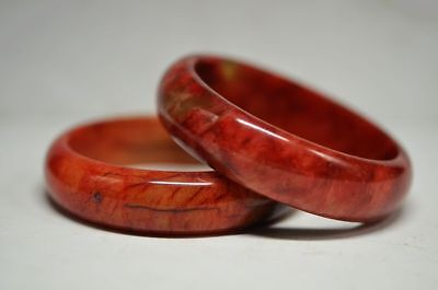 2pcs 100% Natural Jade Chinese Bangle Jade Bracelet A4