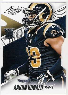 Aaron Donald 2014 Absolute Football Die Cut Rc Rookie Card