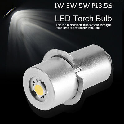 High Bright P13.5S 1/3W LED Flashlight Replacement Bulb Torch Lamp Work Light GW