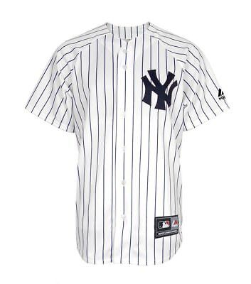 New Majestic Athletic MLB Jersey NY Yankees White Pinstripe