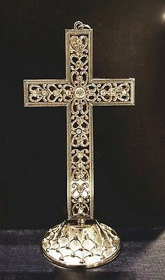 Silver Metal Standing Cross