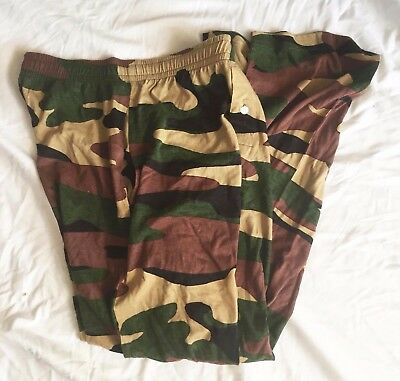 Camo Lounge Loungewear Pants Bottoms Men's Size Medium M Army Camouflage New