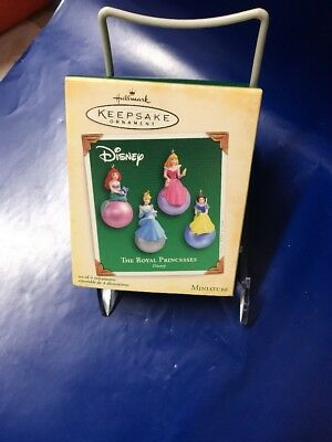 Hallmark 2005 Miniature Ornaments~Set Of 4~The Royal Princesses