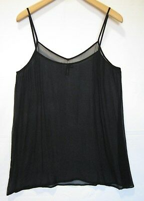 KIRRILY JOHNSTON Black Silk Cami Top - size 10