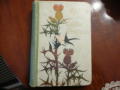 Antique Album With 35 Mechanical And Applied Postcards - 1890's To 1930's