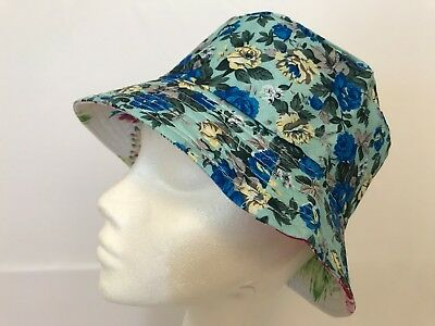 Bucket-Hat-Floral Hawaiian-Boonies-Hunting-Fishing-Outdoor-Men-Women Cap Blue