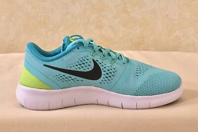 Youth Nike Free RN (GS) Running Athletic Shoes Hyper Turquoise black 833993 300