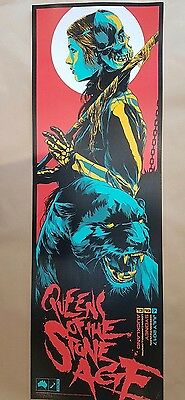 Queens of the Stone Age Sydney Auckland 2017 Green Cat Poster Art Ken Taylor S/N