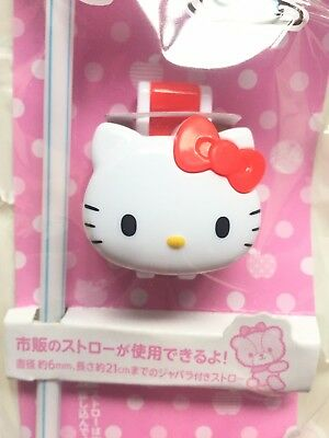 Sanrio HELLO KITTY Bottle Cap with Straw new free shipping!