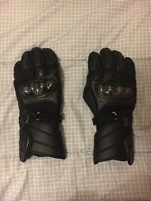 Alpinestars Leather Winter Waterproof Carbon Protection Gloves Size Large