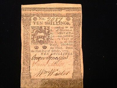 Continental Currency 1773, in very fine condition
