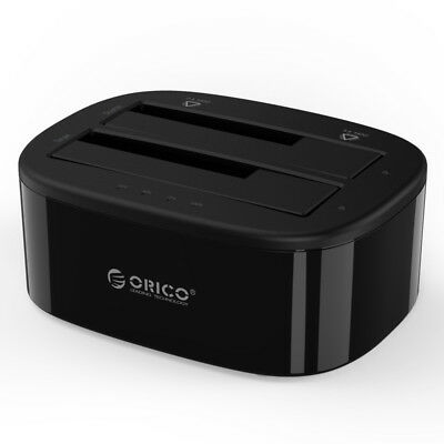 """ORICO 2.5"""" 3.5"""" inch USB 3.0 Dual-Bay HDD and SSD Hard Drive Disk Dock  6228US3"""