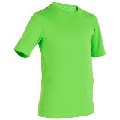 Tribord Boys Girls Junior Sun UV Protection Top Rash Vest T-Shirt Wetsuit(Green)