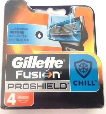 Gillette Fusion Proshield Replacement Cartridge Blades Pack Of 4